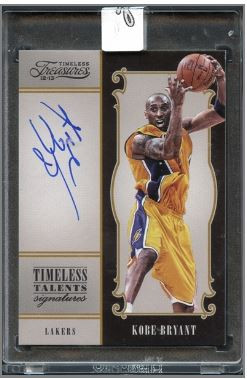 2012 Panini Timeless Treasures Kobe Bryant Auto #5 HOF Serial # 89/99 - Uncirculated