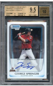 2011 Bowman Chrome George Springer Rookie RC Auto #GS BGS 9.5 GEM MINT
