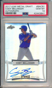 2017 Leaf Metal Draft Cody Bellinger Rookie RC Auto #BACB1 PSA 10 Gem Mint