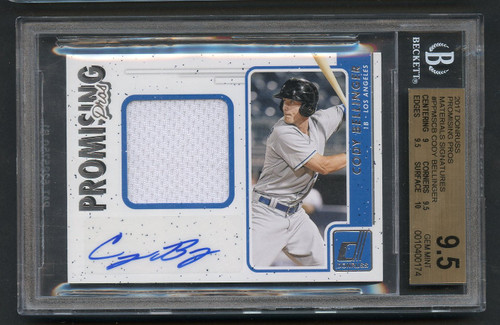 2017 Donruss Promising Pros Cody Bellinger Rookie RC Auto Patch BGS 9.5 Gem Mint