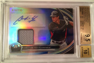 2013 Bowman Platinum Blue Refractor CHRISTIAN YELICH Rookie RC AUTO Jersey BGS 9.5 Gem Mint
