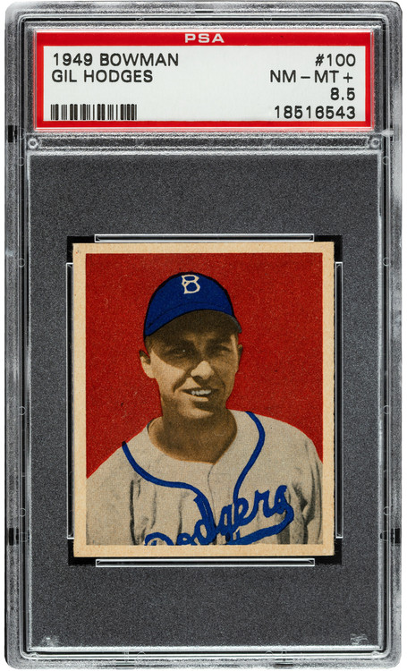 1949 Bowman Gil Hodges RC Rookie #100 PSA 8.5 Centered