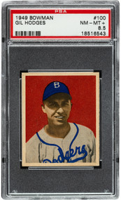 1949 Bowman Gil Hodges RC Rookie #100 PSA 8.5 Centered