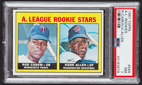 1967 Topps Rod Carew RC Rookie #569 HOF PSA 7 - High-End Qualities