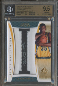 2007 SP Recr. Class Kevin Durant RC Auto Patch -BGS 9.5 Gem -Highest Graded