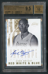 2012 Panini Intrigue RW&B Autographs Kobe Bryant BGS 9.5 Gem Mint /99