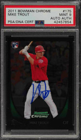 2011 Bowman Chrome Mike Trout RC Rookie Auto #175 PSA 9 Mint