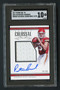 2017 National Treasures Rookie Colossal Patrick Mahomes RC Auto Patch SGC 10 Gem Mint