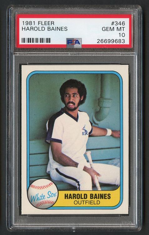 1981 Fleer Harold Baines RC Rookie HOF #346 Gem Mint 10
