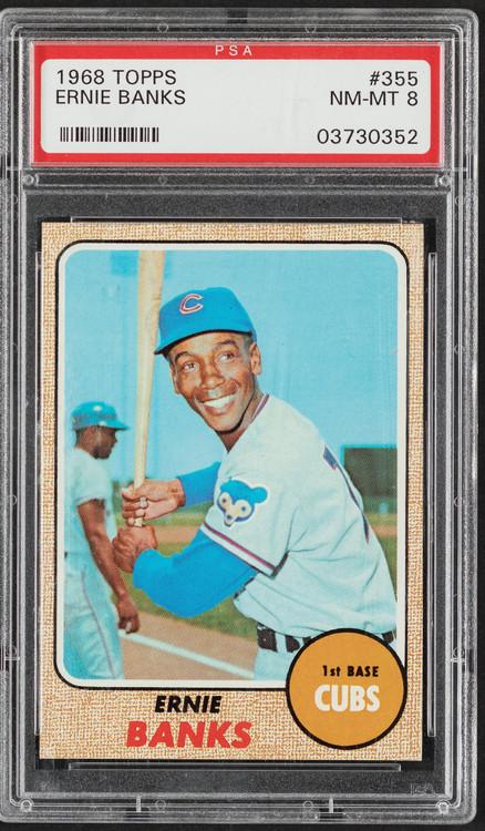 1968 Topps Ernie Banks #355 HOF PSA 8 - Centered & High-End