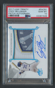 2017 Leaf Trinity Cody Bellinger RC Auto Patch RPA PSA 10 Gem Mint-Unique!