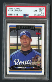 2006 Topps Alex Gordon #297 SP Error PSA 8.5 Rare