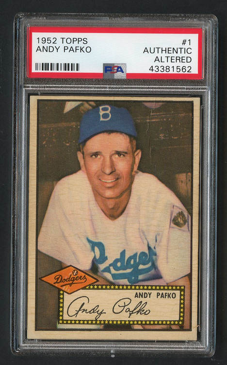 1952 Topps Andy Pafko #1 PSA Authentic Altered