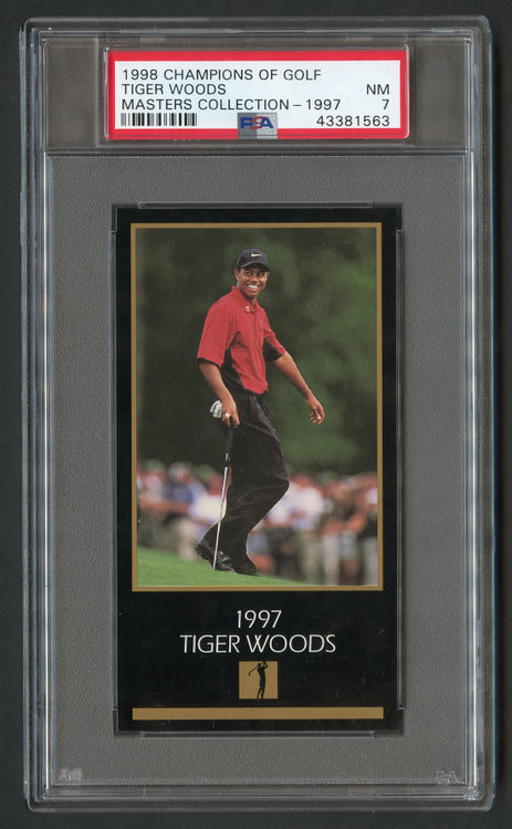 1998 Champions of Golf Tiger Woods RC Rookie PSA 7-Super High-End & Undergraded