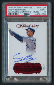 2017 Flawless Cody Bellinger RC Rookie Auto Ruby /20 #FS-CB PSA 9 Mint