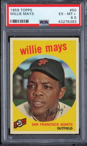 1959 Topps Willie Mays #50 HOF PSA 6.5 Centered & High-End