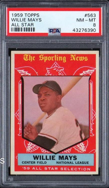 1959 Topps Willie Mays All-Star #563 HOF PSA 8-Centered