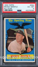 1959 Topps Mickey Mantle All-Star #564 HOF PSA 6