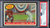 1959 Topps Mickey Mantle Homer For Crown #461 HOF PSA 7-Centered