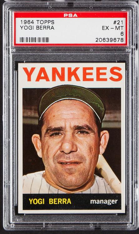 1964 Topps Yogi Berra #21 HOF PSA 6-Centered & High-End