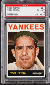 1964 Topps Yogi Berra #21 HOF PSA 6-Centered & High-End