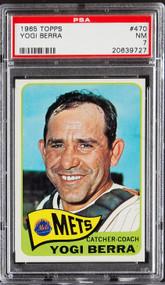 1965 Topps Yogi Berra #470 HOF PSA 7