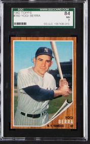 1962 Topps Yogi Berra #360 HOF SGC 7