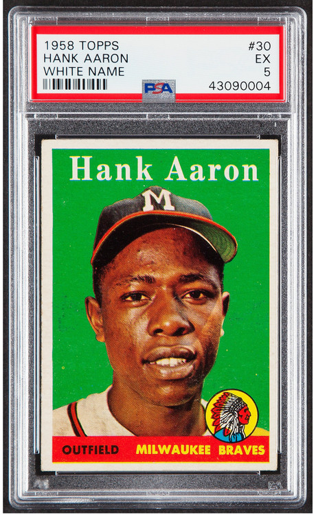 1958 Topps Hank Aaron #5 White Letters PSA 5 - Centered & High-End Qualities
