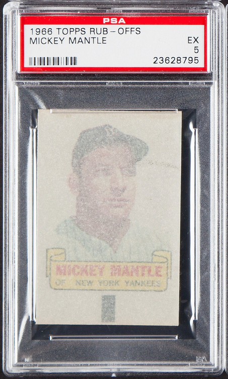 1966 Topps Rub-Offs Mickey Mantle PSA 5