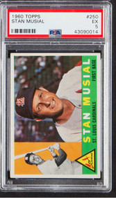 1960 Topps Stan Musial #250 PSA 6-Centered