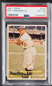 1957 Topps Frank Campanella #210 HOF PSA 4