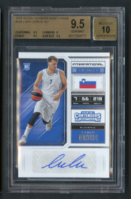 2018 Contenders Draft Picks Luka Doncic RC Rookie Auto BGS 9.5 Gem Mint