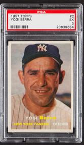 1957 Topps Yogi Berra #2 HOF PSA 5