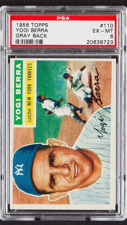 1956 Topps Yogi Berra #110 HOF Gray Back PSA 6