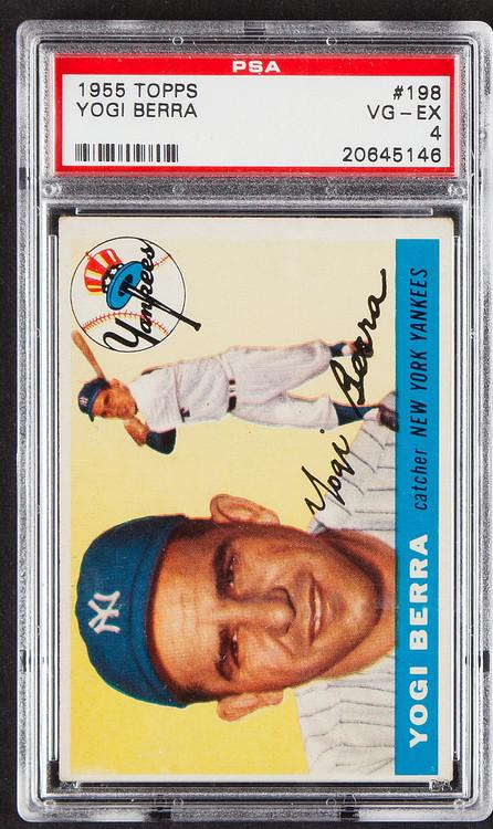 1955 Topps Yogi Berra #198 HOF PSA 4