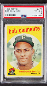 1959 Topps Bob Roberto Clemente #478 HOF PSA 4