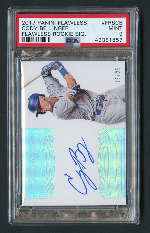 2017 Flawless Cody Bellinger RC Rookie Auto #FRSCB PSA 9