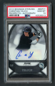 2010 Bowman Sterling Christian Yelich RC Rookie Auto PSA 10 Gem Mint