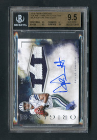 2016 Origins Dak Prescott RPA Rookie Patch Auto BGS 9.5 Gem Mint