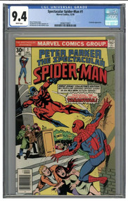 1976 Spectacular Spider-Man #1 CGC 9.4 White Pages