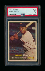 1957 Topps Willie Mays #10 HOF PSA 5 - Centered