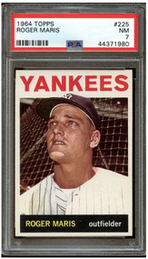 1964 Topps Roger Maris #225 HOF PSA 7-Centered & High-End