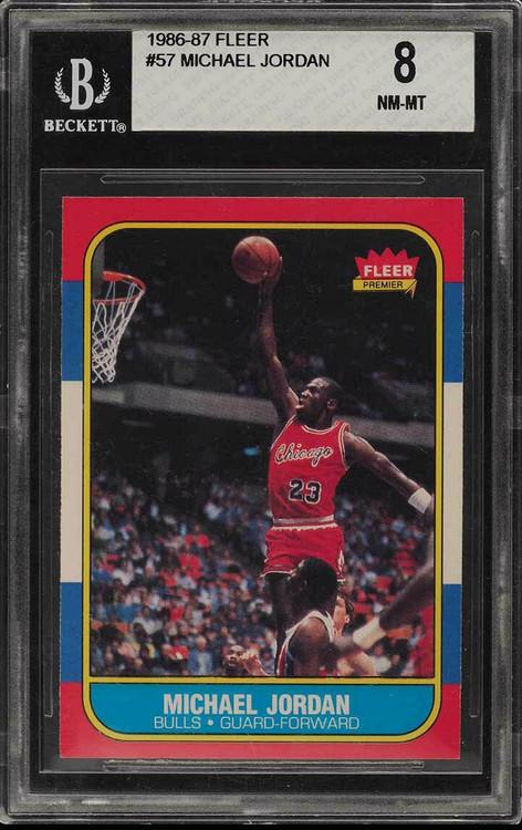 1986 Fleer Michael Jordan RC Rookie #57 HOF BGS 8-Centered & High-End
