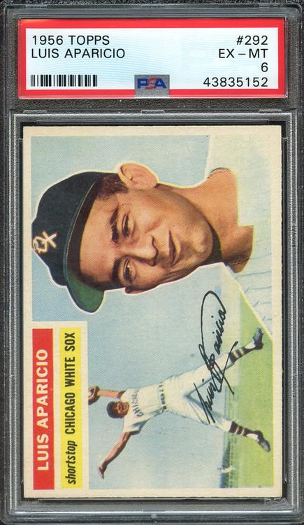 1956 Topps Luis Aparicio RC Rookie #292 HOF PSA 6-Centered & High-End