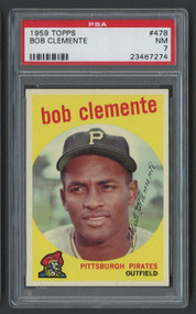 1959 Topps Roberto Bob Clemente #478 HOF PSA 7-Centered & High-End