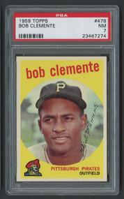 1959 Topps Roberto Bob Clemente #478 HOF PSA 7-Centered & High-End