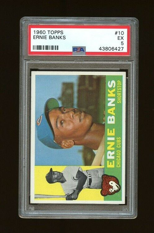 1960 Topps Ernie Banks #10 HOF PSA 5 - Centered & High-End Look
