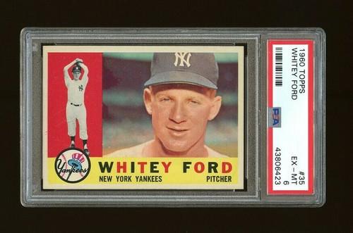 1960 Topps Whitey Ford #35 HOF PSA 6-Centered & High-End