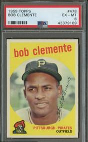 1959 Topps Roberto Clemente #478 HOF PSA 6- Centered