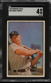 1953 Bowman Color Mickey Mantle #59 HOF  SGC 4- Centered & High-End